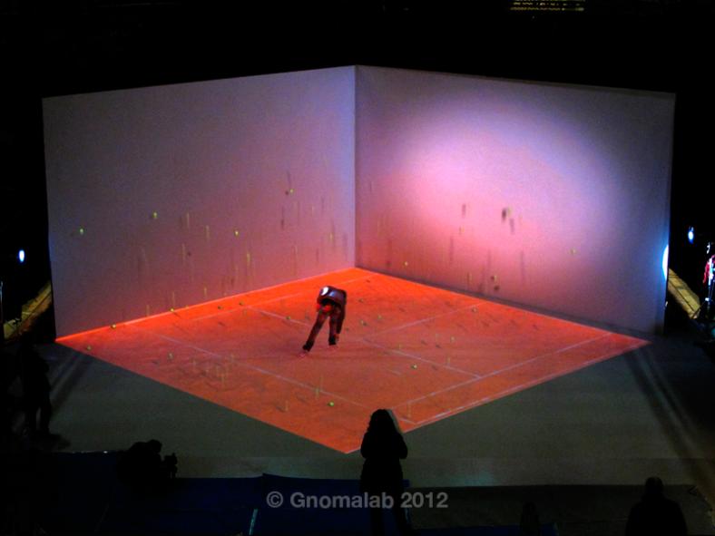 Grabación: secuencia Tenis  con pelotas reales y virtuales