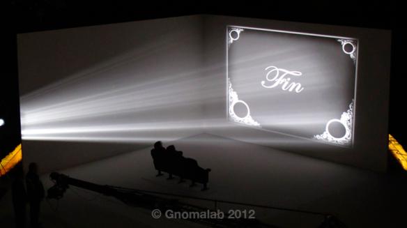 Grabación: Secuencia proyección sala de cine
